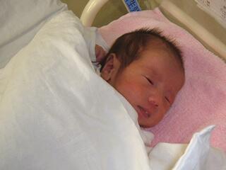 よく眠る新生児