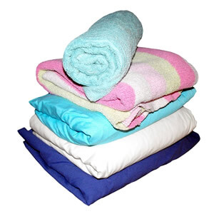 積まれた毛布