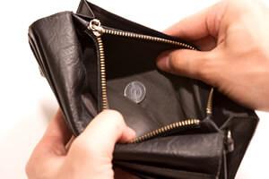 少ない財布の中身