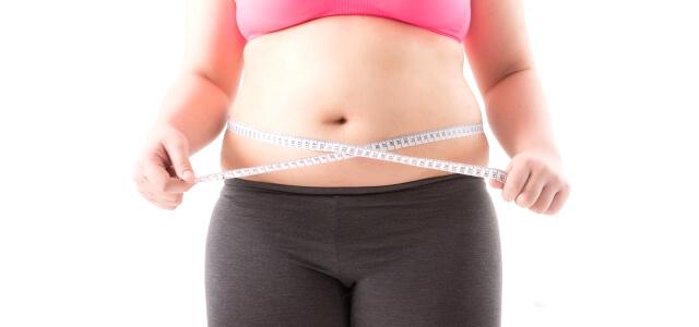 脂肪の多いお腹とメジャー