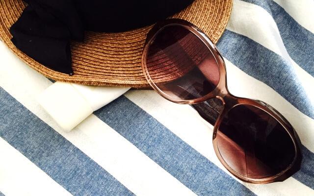 日焼け対策の防止とサングラス