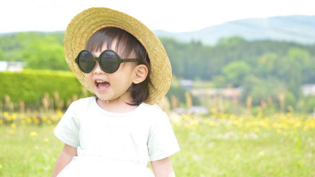日焼け対策した子供