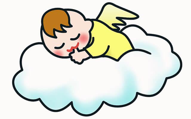 気持ちよく眠る赤ちゃん