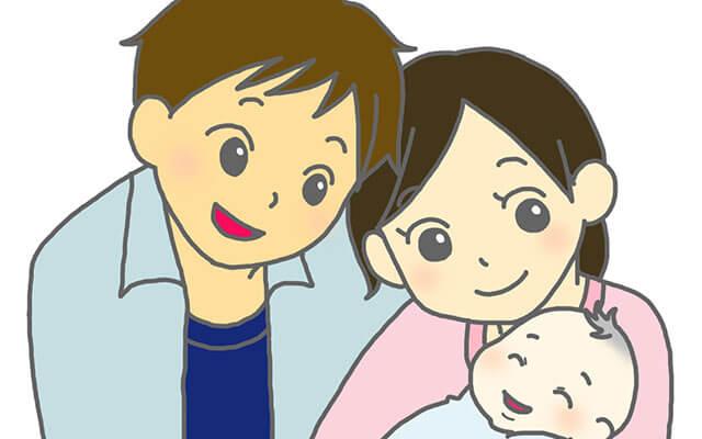 出産を喜ぶ夫婦