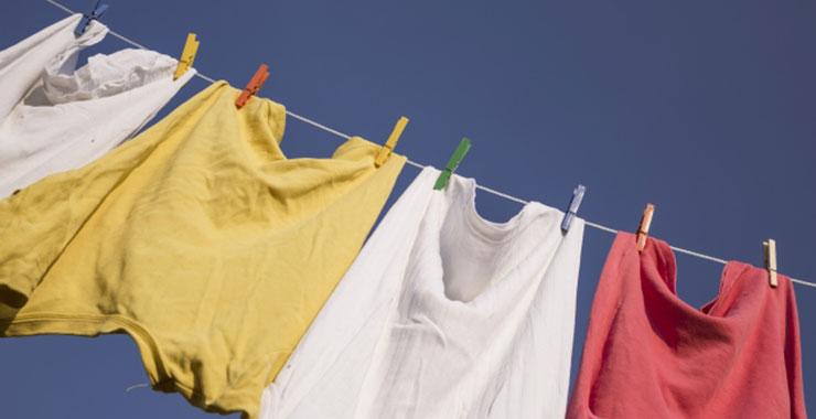 物干しの洗濯物