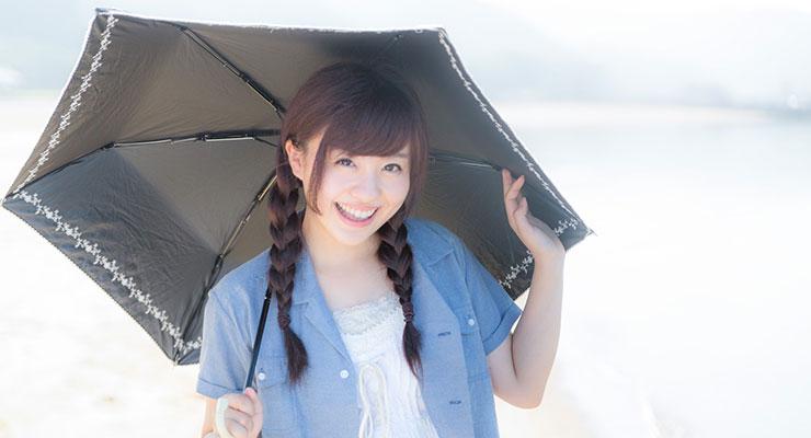 日傘と女性