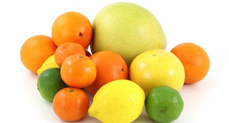 クエン酸の豊富な柑橘類
