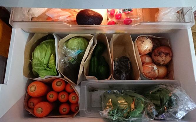 ほうれん草の冷蔵保存