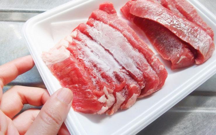 冷凍した肉2