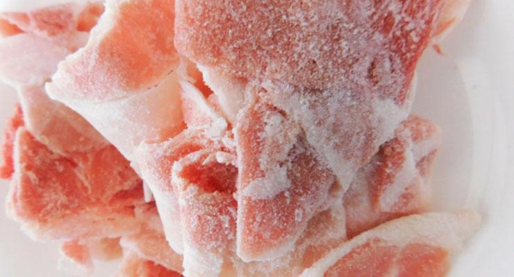 冷凍した肉